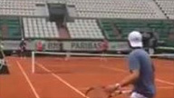 French Open Day 1 One of the best warm ups ever for Akira…